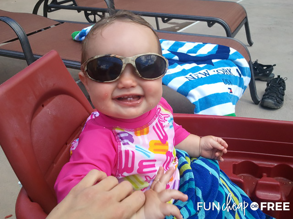 Wearing Sunglasses At The Pool from Fun Cheap or Free