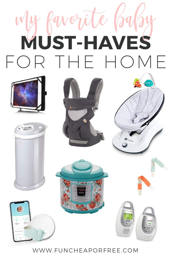 My favorite baby must-haves for the home to make life simpler with a little one from Fun Cheap or Free
