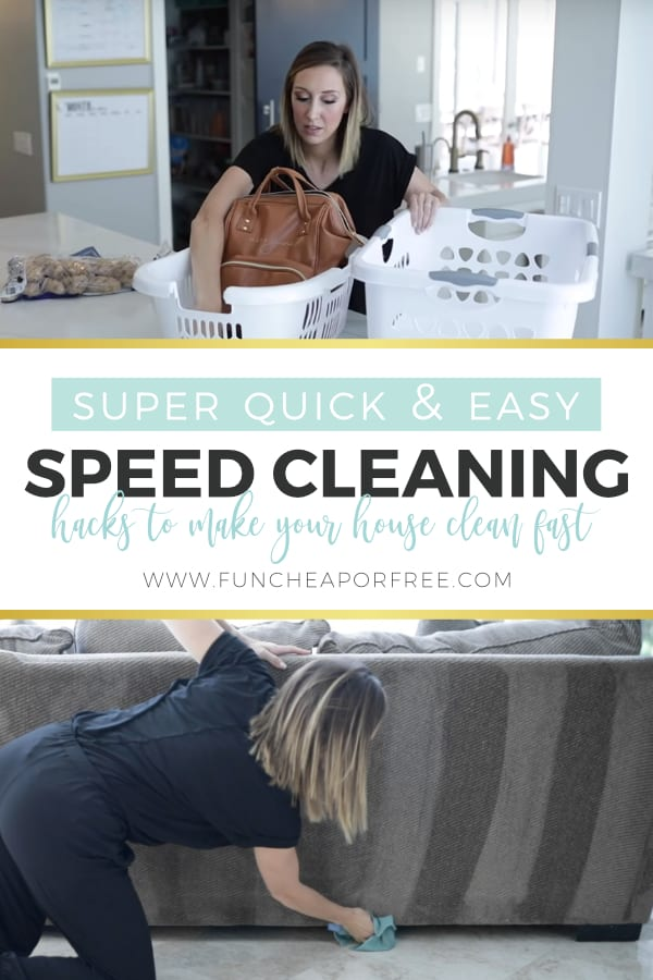 Speed Cleaning Hacks Pinterest Picture from Fun Cheap or Free