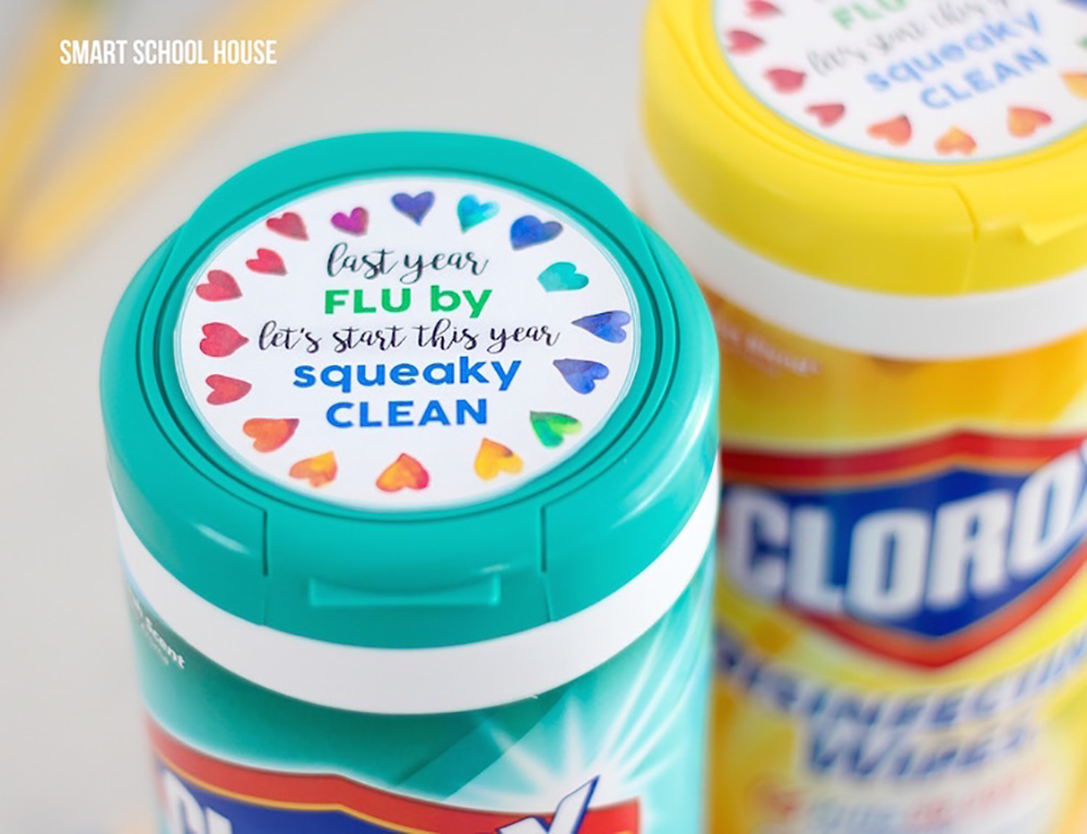 Smart School House Clorox Wipes Gift Tag from Fun Cheap or Free
