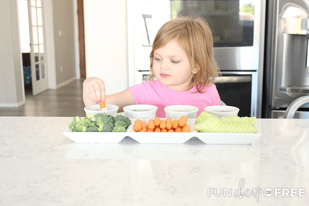 Kids will love the options on this veggie tray - Tips from Fun Cheap or Free