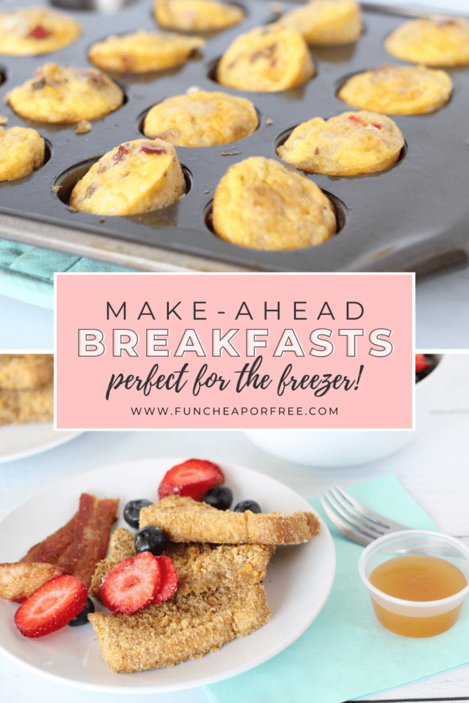 Make-ahead freezer breakfast on a plate, from Fun Cheap or Free