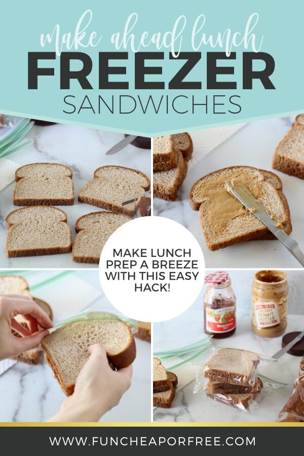 Make these easy freezer sandwich ideas for lunch - Tips from Fun Cheap or Free