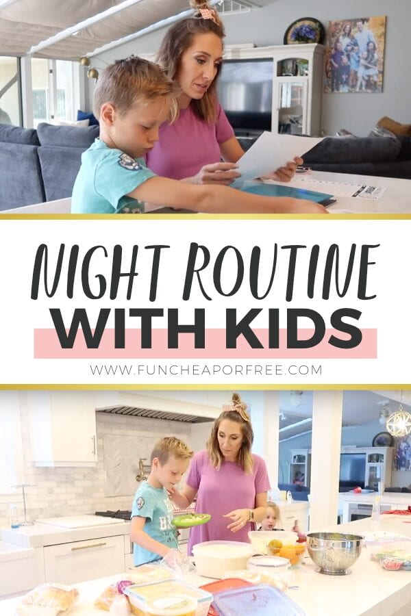 Wanna see some behind the scenes of the Page household - We're sharing our night routine with kids today from Fun Cheap or Free