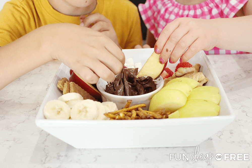 Kids will love this Nutella snack platter - Tips from Fun Cheap or Free