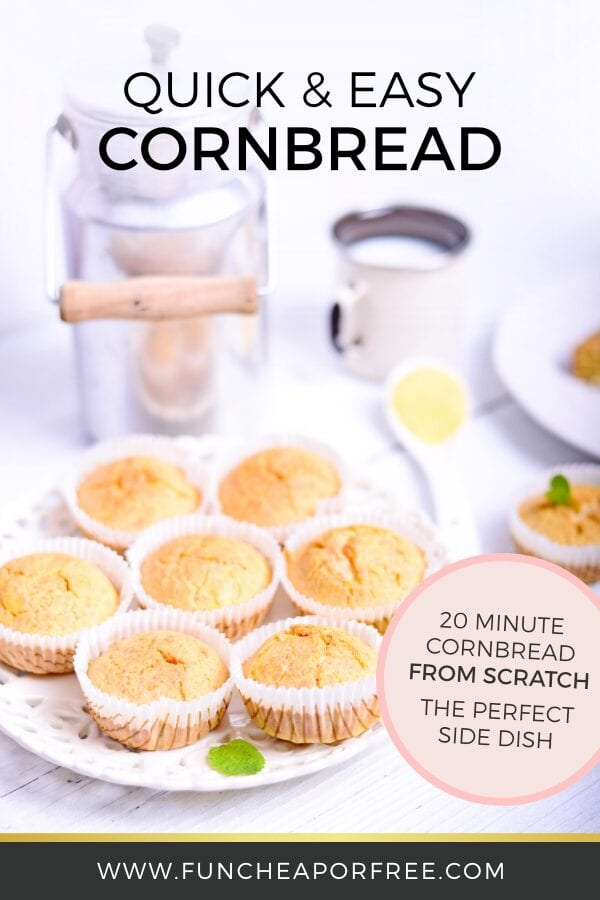 Cornbread on a platter, from Fun Cheap or Free