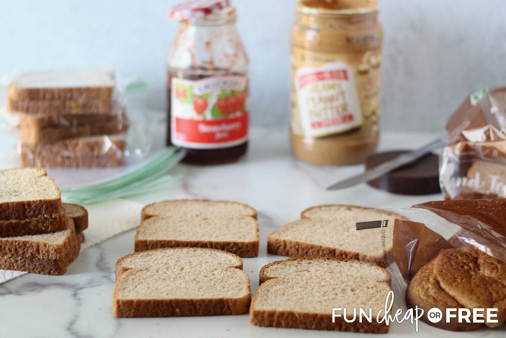 Let your kids help you make their sandwiches for the week - Tips from Fun Cheap or Free