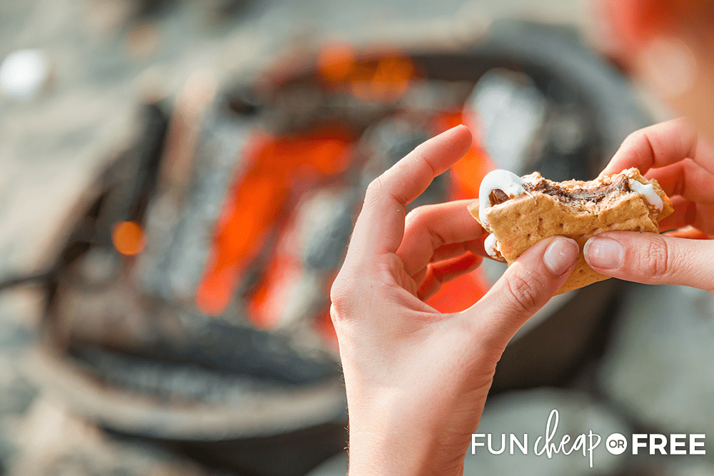 S'mores are a fun fall treat - Tips from Fun Cheap or Free