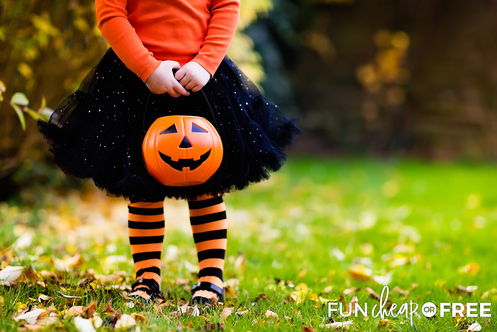 Trick-or-treating is a fun Halloween activity - Tips from Fun Cheap or Free