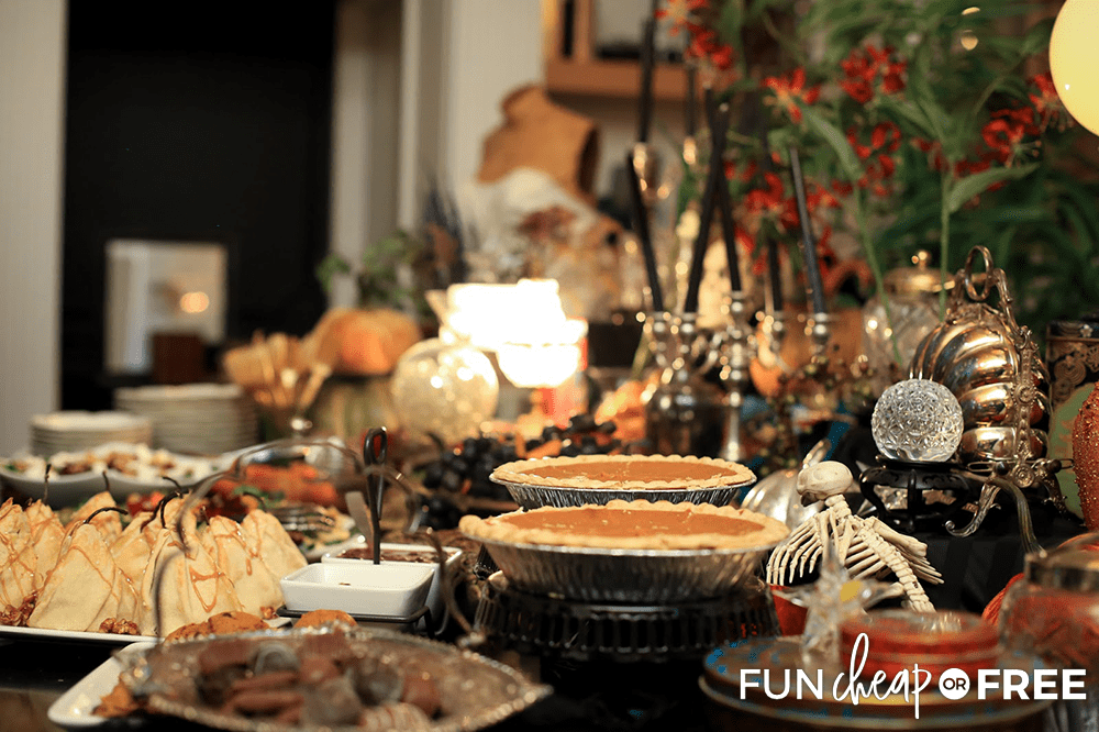 Make sure to decorate the dessert table - Tips from Fun Cheap or Free