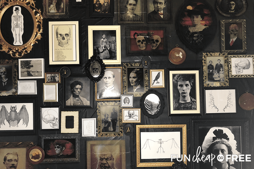Give your Halloween party a spooky wall for a fun, dramatic flare - Tips from Fun Cheap or Free