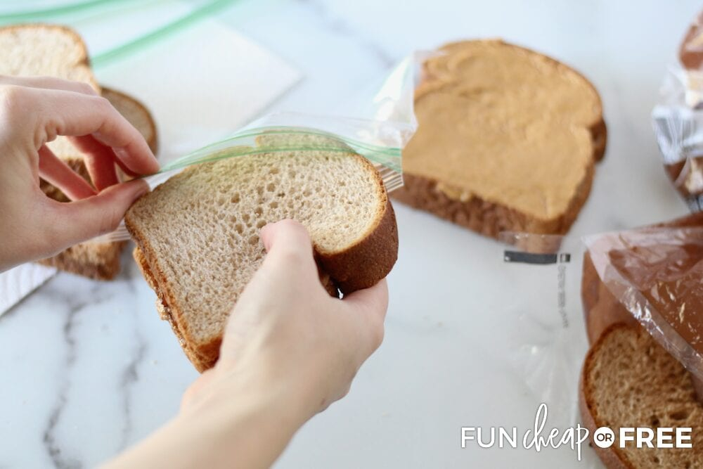 Individually package your freezer sandwiches - Tips from Fun Cheap or Free