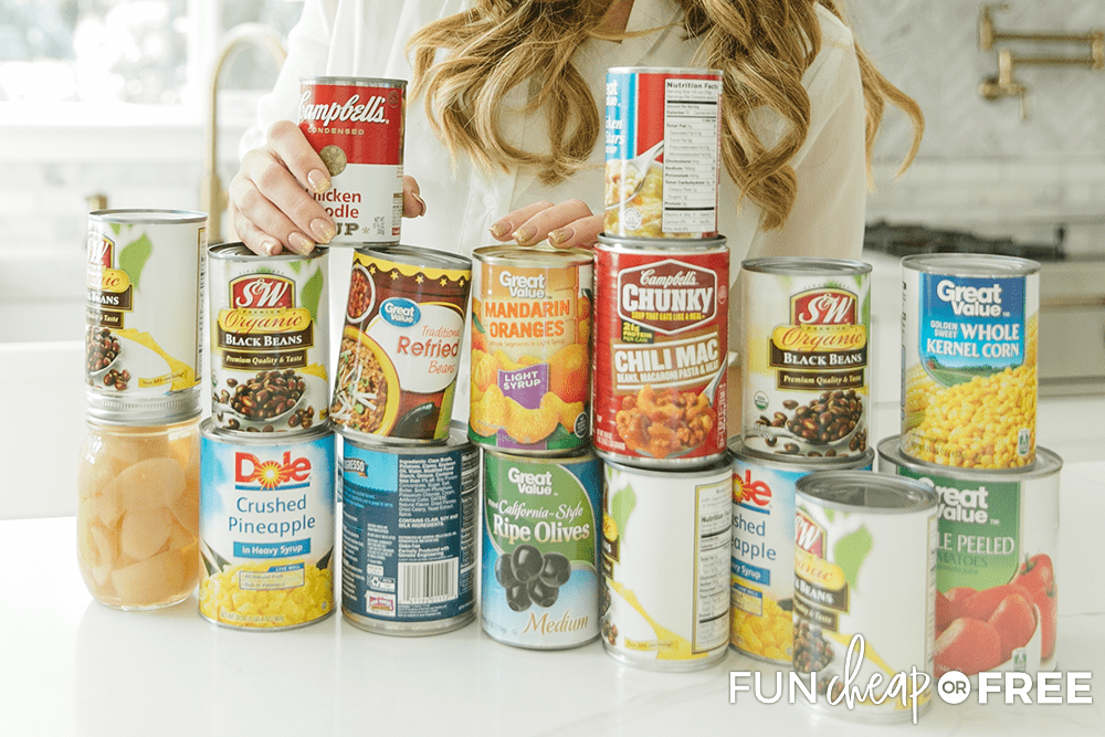 Stock your pantry with these staples so that you can always shelf cook - Tips from Fun Cheap or Free