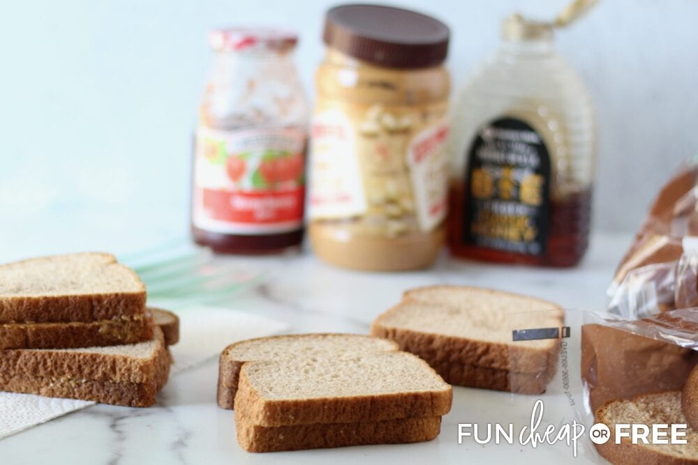 Ingredients for freezer sandwiches - Ideas from Fun Cheap or Free