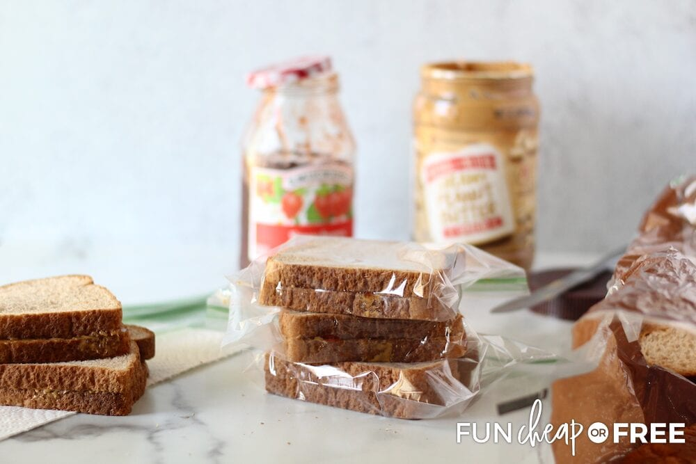 Try out these easy freezer sandwich ideas for lunch - Tips from Fun Cheap or Free