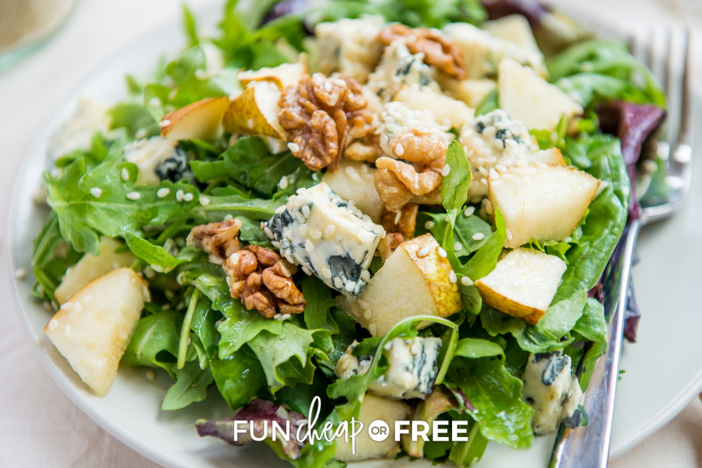 dinner salad on a plate, from Fun Cheap or Free