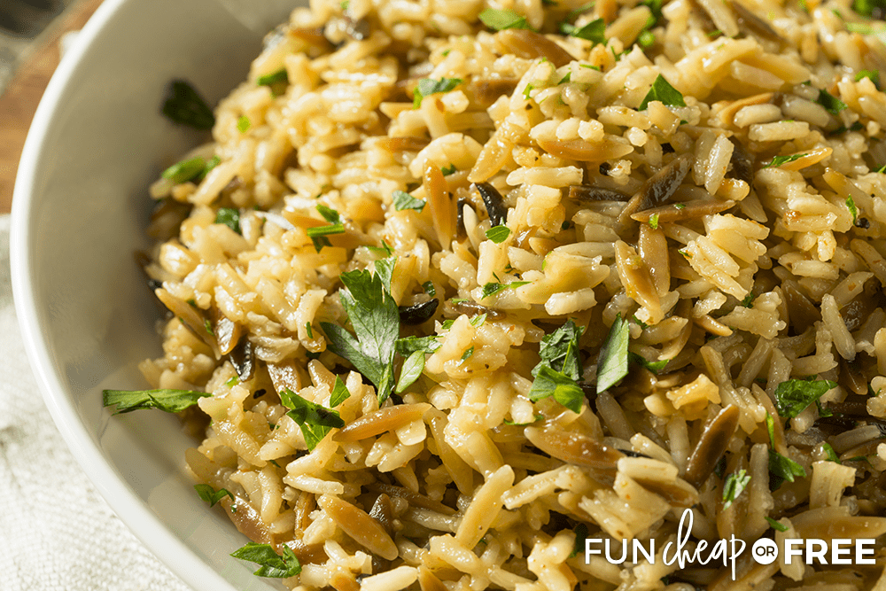 Rice pairs well with a lot of different meals - Tips from Fun Cheap or Free