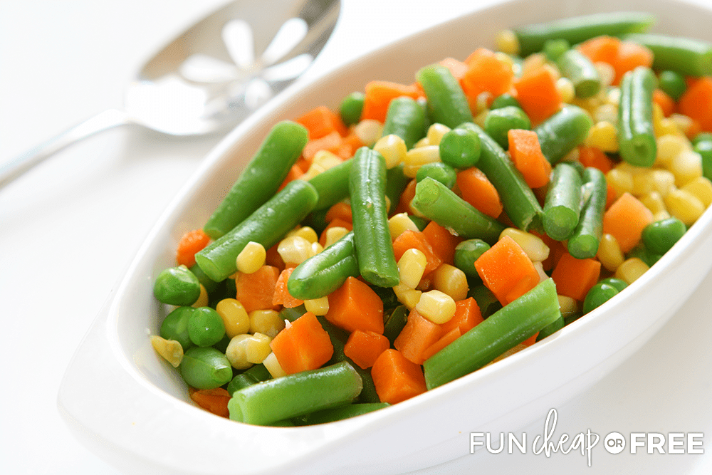 Start serving sides to make your meal go further - Tips from Fun Cheap or Free