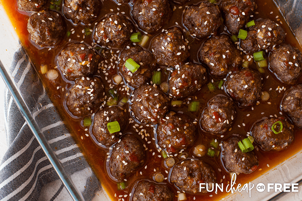 Try out this delicious sweet and sour meatball recipe from Fun Cheap or Free