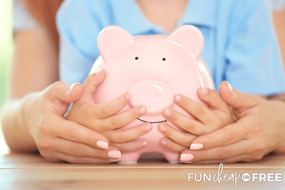 Set savings accounts up for your kids - Tips from Fun Cheap or Free