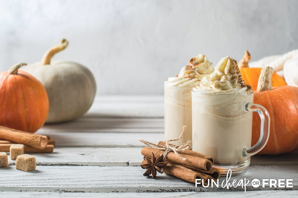 This copycat Starbucks recipe for a pumpkin spiced latte tastes as good as the real thing - Tips from Fun Cheap or Free