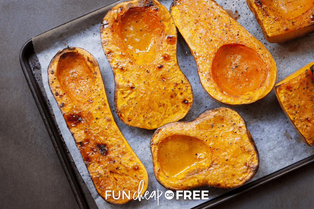 how to roast butternut squash, from Fun Cheap or Free