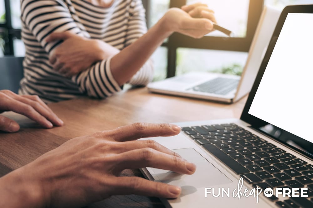 Take laptops with you so that you can look over your finances - Tips from Fun Cheap or Free