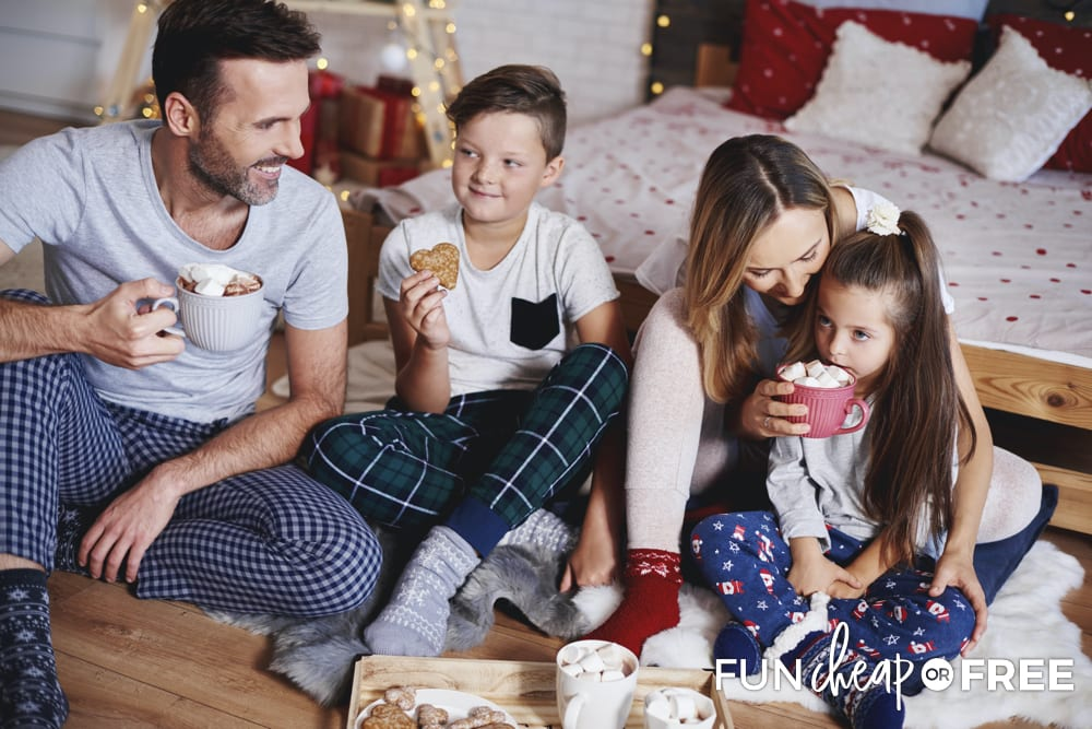 Enjoy your family this week! Do some fun bucket list items, such as having hot chocolate together - Tips from Fun Cheap or Free