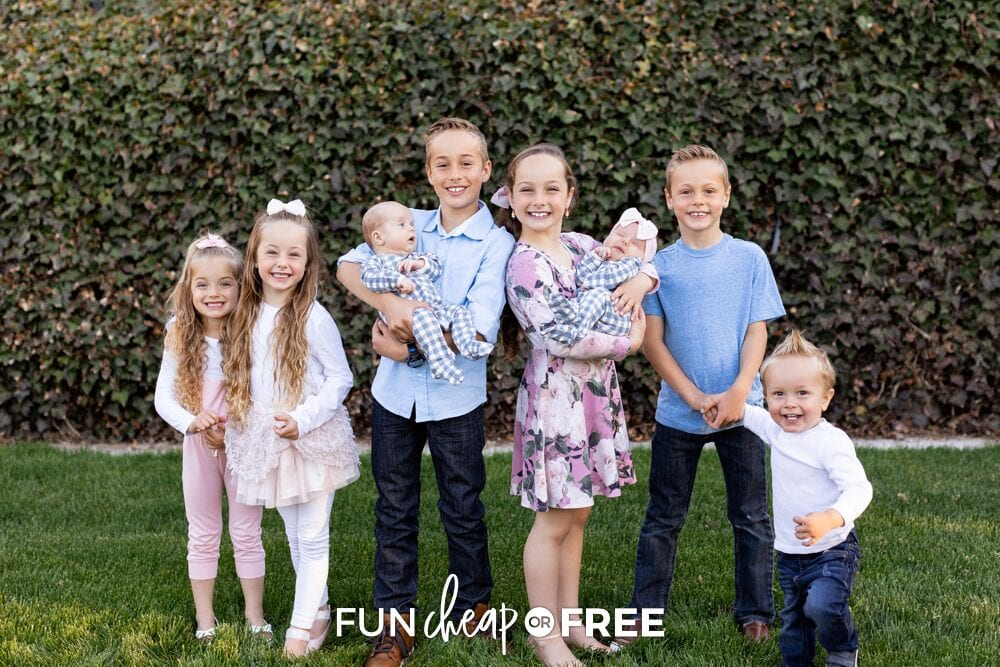 Page family kids outside, from Fun Cheap or Free