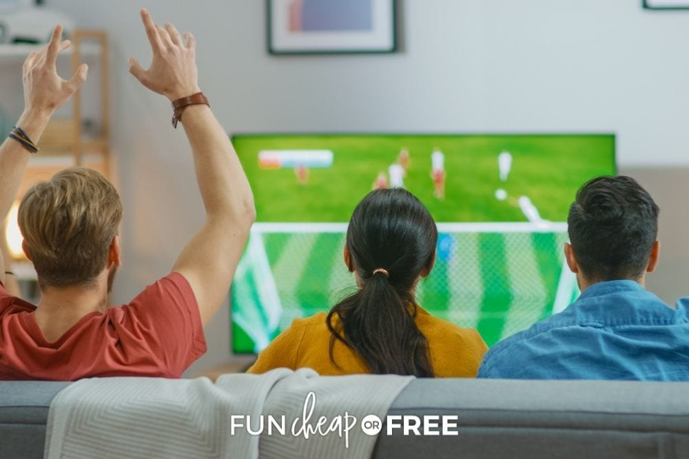 watching sports on TV, from Fun Cheap or Free