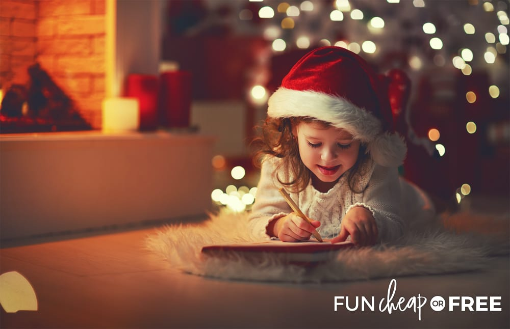 Write letters to Santa - Holiday bucket list ideas from Fun Cheap or Free
