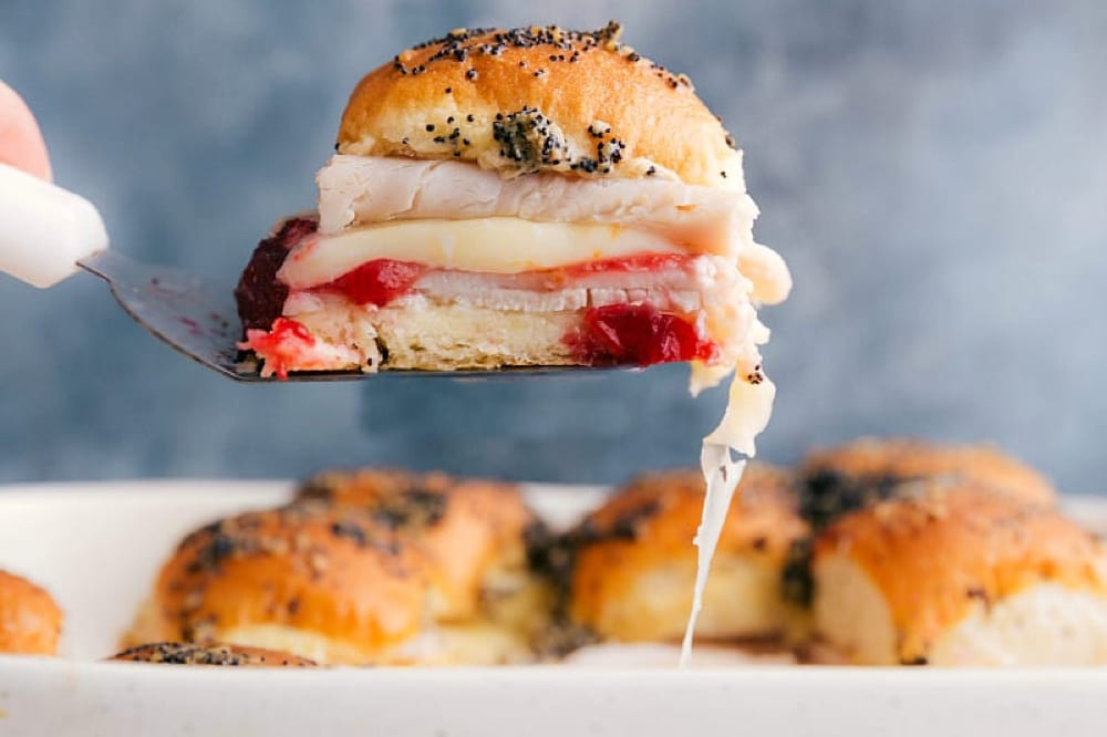 Try out these leftover turkey sliders from Chelsea's Messy Apron - Tips from Fun Cheap or Free