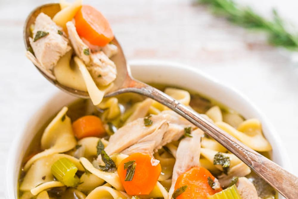 Try out this delicious leftover turkey noodle soup recipe from Averie Cooks - Tips from Fun Cheap or Free