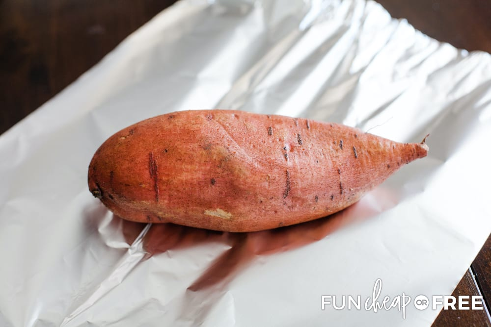Roast sweet potatoes in the oven in foil - Tips from Fun Cheap or Free