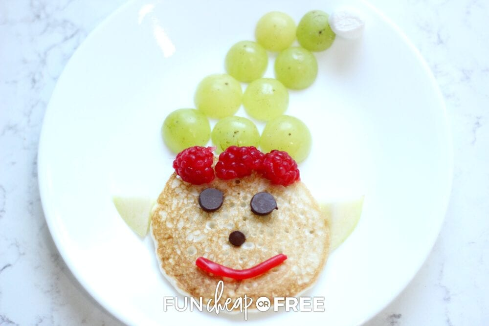 Elf pancake on a plate, from Fun Cheap or Free