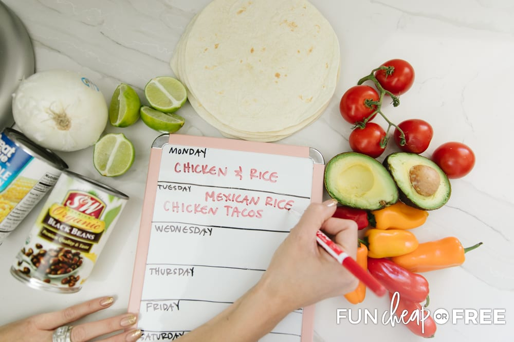 Consider setting a meal planning goal - Tips from Fun Cheap or Free
