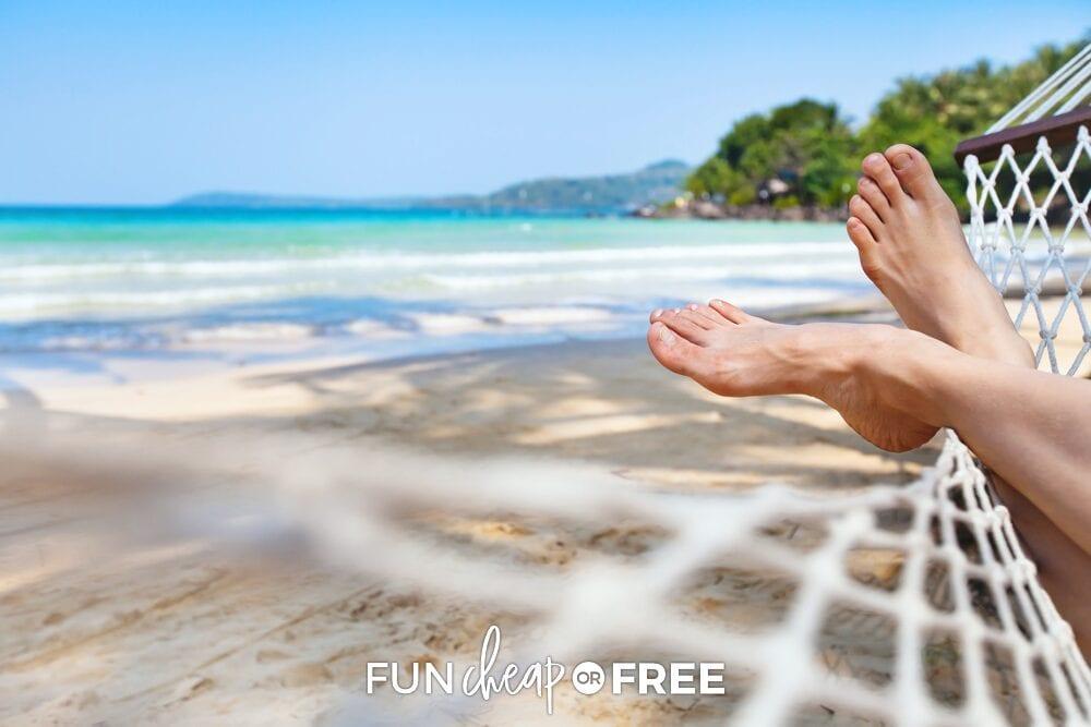 Hammock on a beach, from Fun Cheap or Free