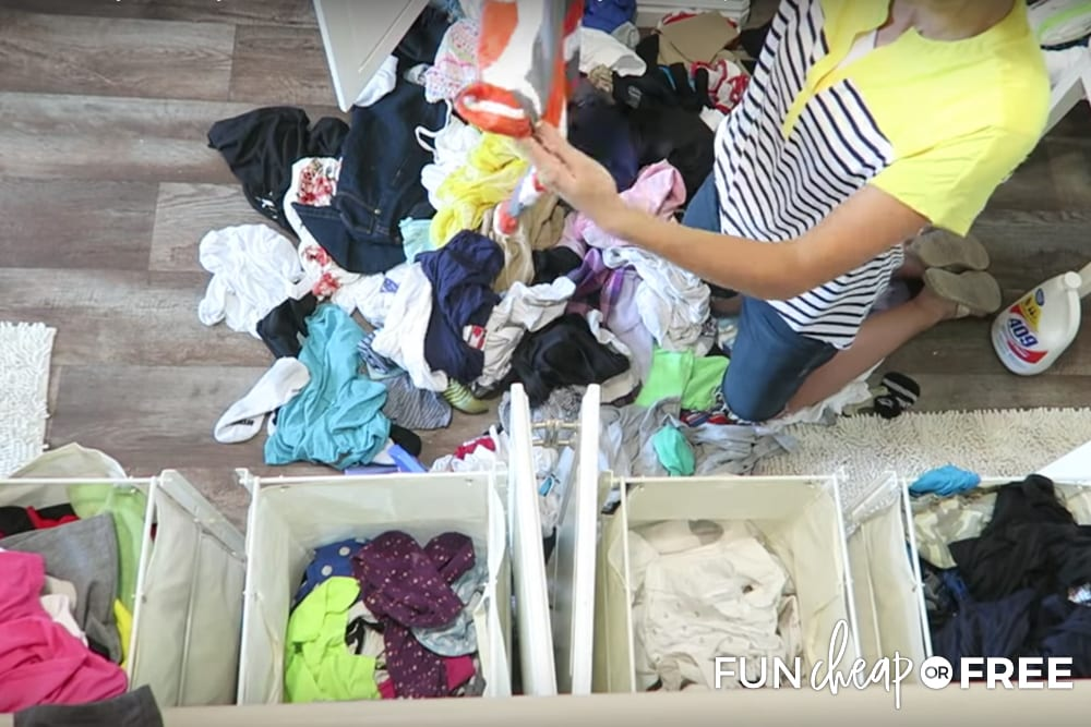 Sort your clothes by texture rather than color - Tips from Fun Cheap or Free