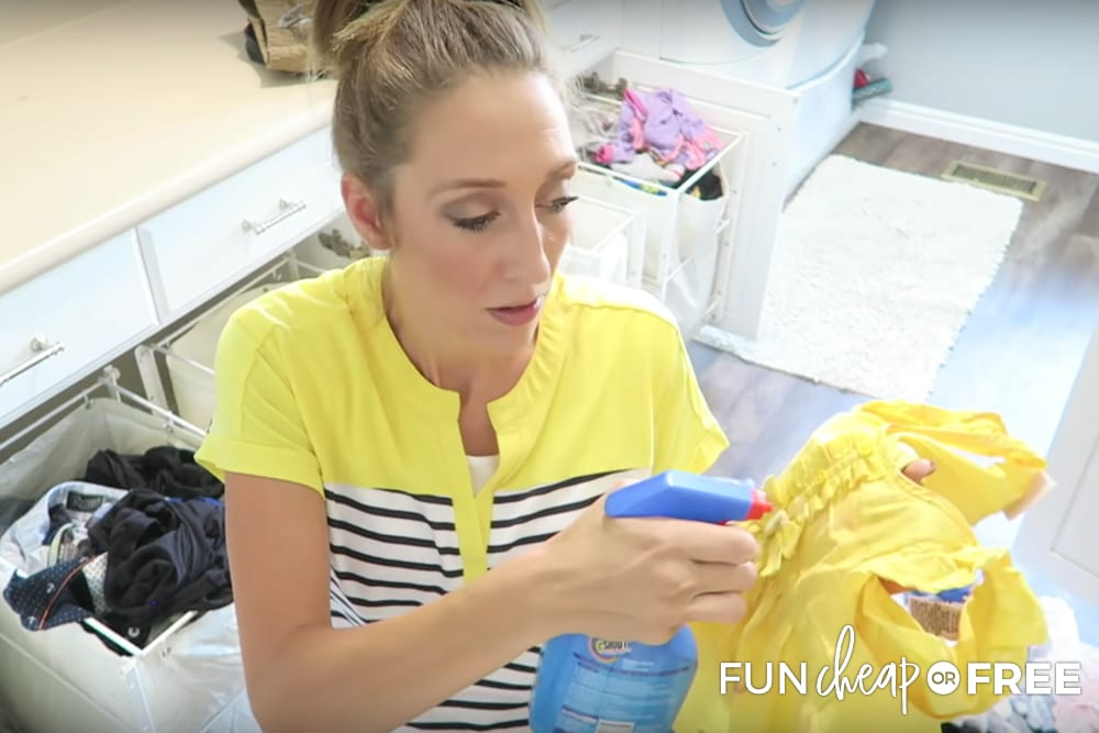 Use stain remover to help keep your clothes clean and stain-free - Tips from Fun Cheap or Free