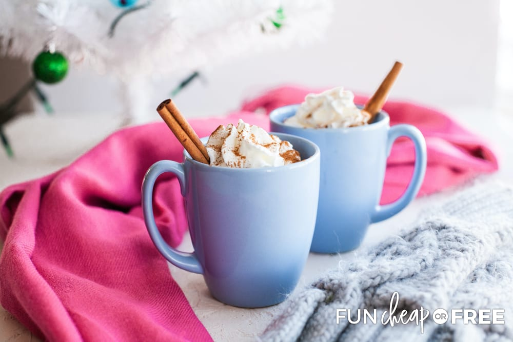 Mexican hot chocolate recipe in a mug, from Fun Cheap or Free
