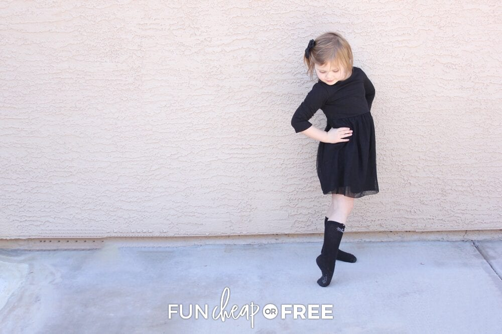 Little girl dressed up for New Year's Eve, from Fun Cheap or Free