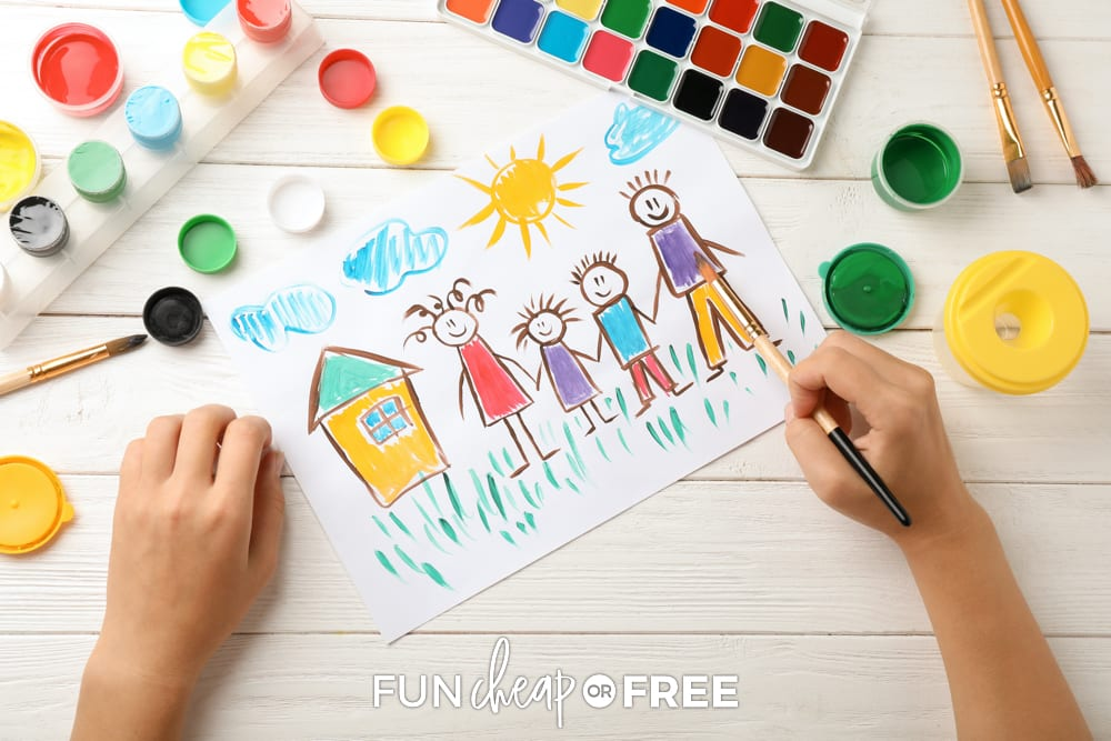 Have your kids sit down next to you while you do something important and do something fun to keep them preoccupied - Tips from Fun Cheap or Free