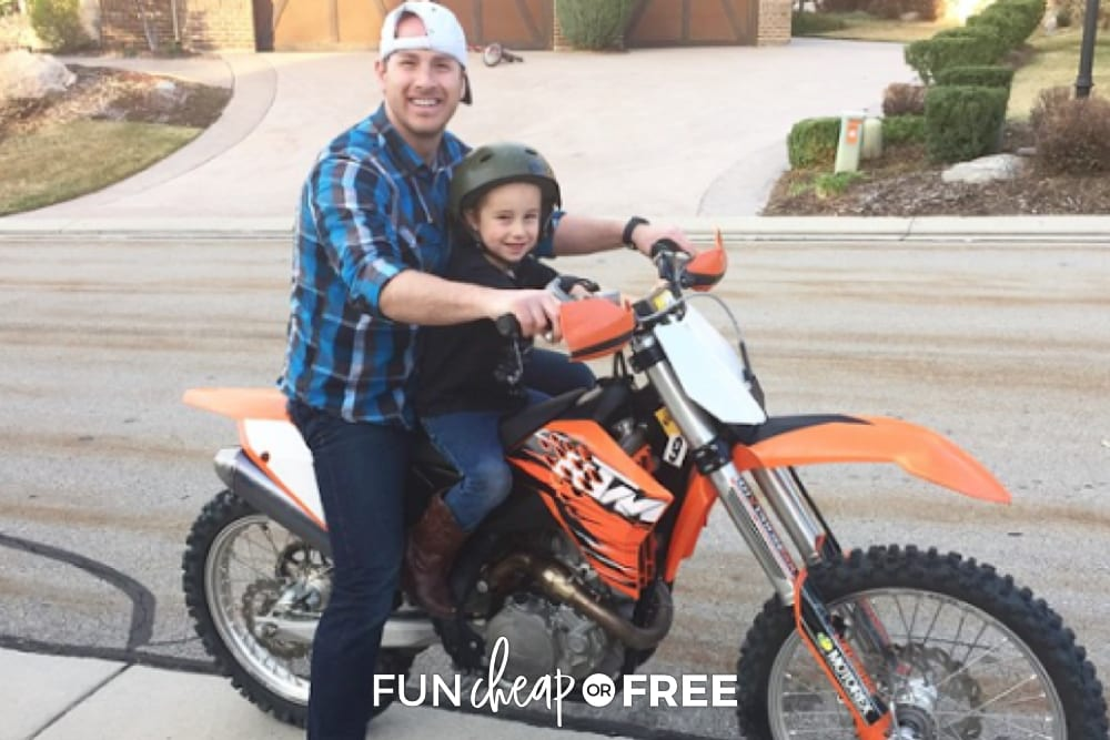 Bubba on a dirt bike, from Fun Cheap or Free