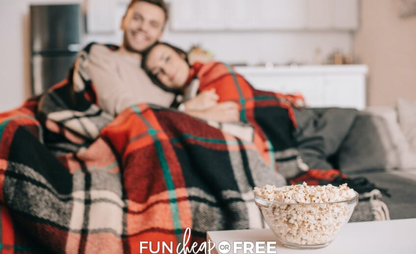 Relax with your spouse with one of these fun, cheap or free at home date night ideas!