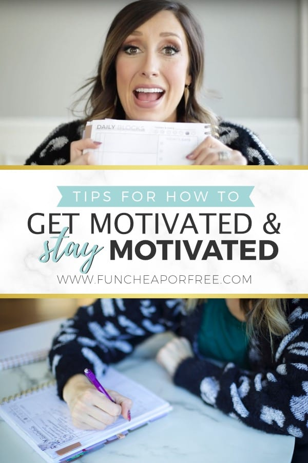 The best tips for how to get motivated in your life, plus how to STAY motivated once the initial adrenaline surge runs out. From Fun Cheap or Free