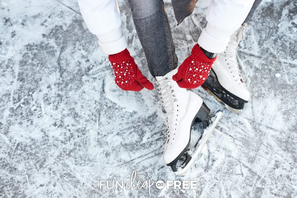 Ice skating is a must-have on your winter bucket list! Get more ideas from Fun Cheap or Free