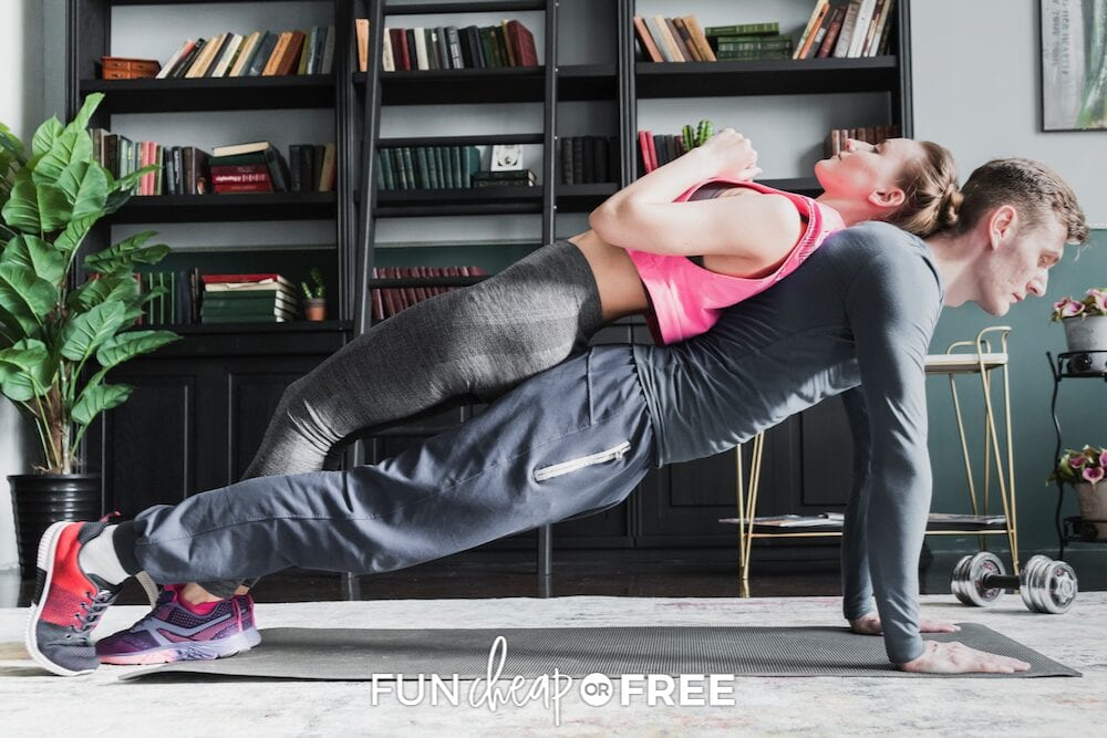 couple working out together, from Fun Cheap or Free
