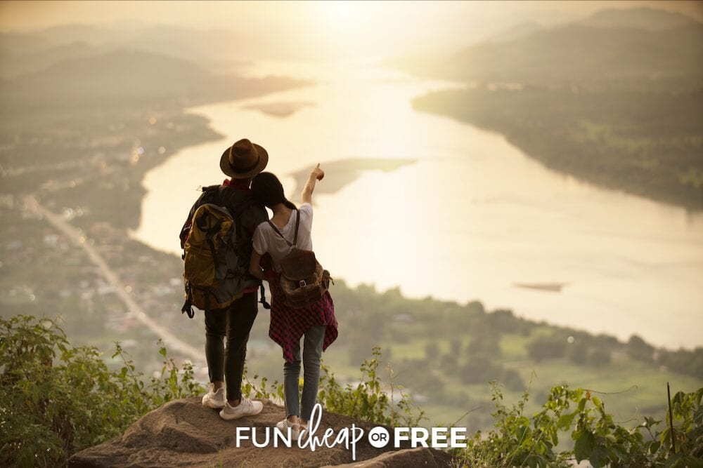 couple climbing a rock, from Fun Cheap or Free