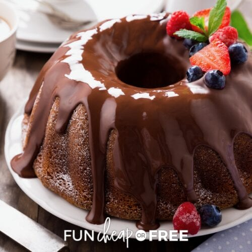 A chocolate bundt cake is one of the easiest desserts that you can make for your next get together! Use this doctored cake mix recipe from Fun Cheap or Free and never want to eat any other chocolate cake again.