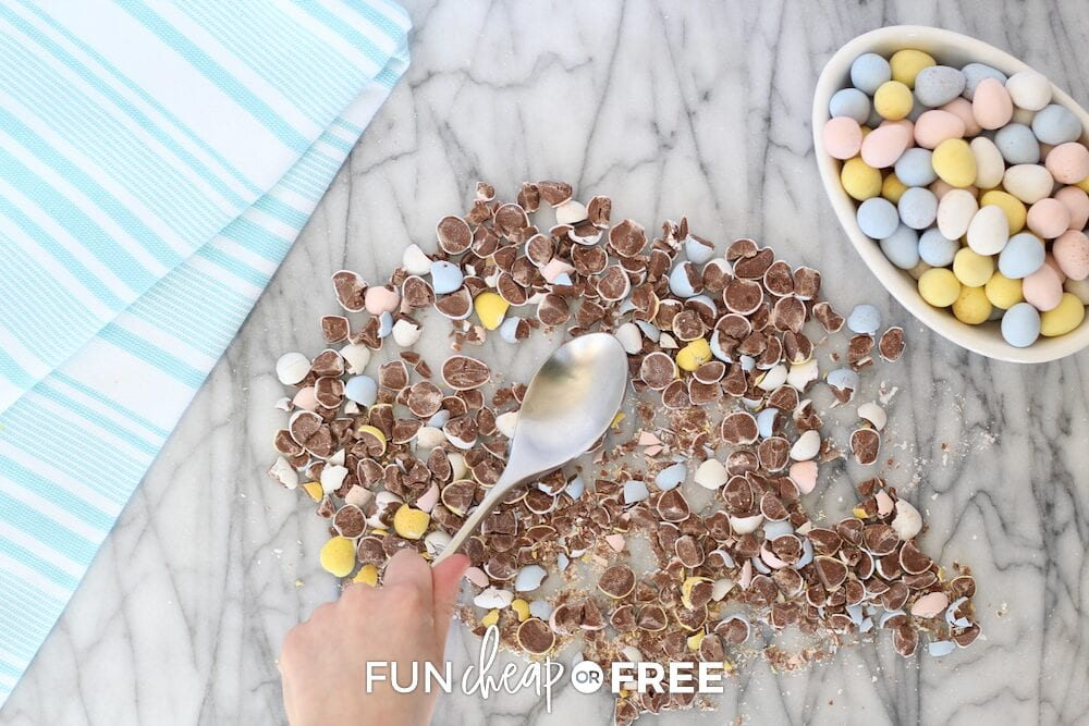 Crushed candy on a counter, from Fun Cheap or Free
